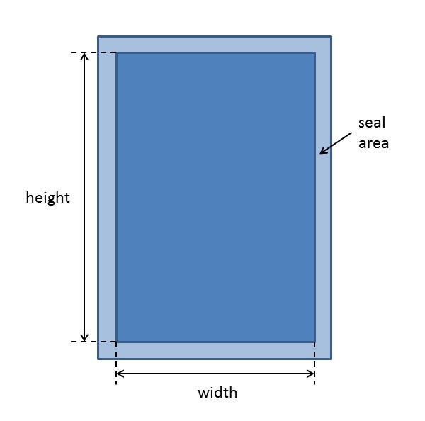 flat bag dimensions